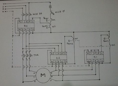 Single Phase Motor Wiring With Contactor Diagram With Images