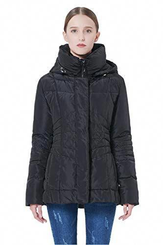 c5371bcca20e1 Orolay Women s Short Down Coat with Faux Fur Trim Black S  Women scoats