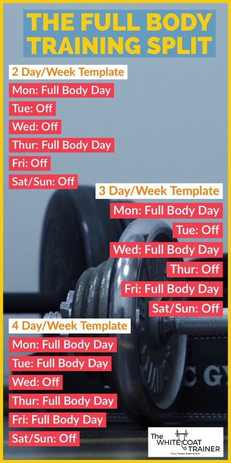 The full body workout split is great for building muscle and losing weight #fullbodyworkout #trainingsplit #workoutsplit #trainingschedule