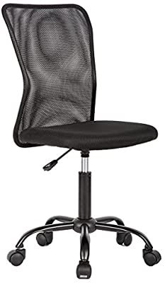 Amazon Com Office Chair Desk Chair Mesh Computer Chair With Lumbar Support No Arms Swivel Rolling Exec In 2020 Office Chair Mesh Computer Chair Ergonomic Office Chair