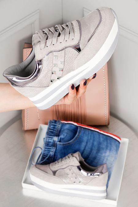 Sportowe Buty Matylda Na Koturnie Sport Shoes Sportshoes Butysportowe Gray Grayshoes Spikes Shoeswithspikes Butynakoturnie Hiking Boots Shoes Sneakers
