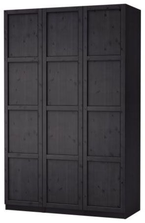PAX Bergsbo Wardrobe With 2 Doors: $189, IKEA (handles: Lucite Adjustable  Handle With Brass Finish: $34, The Paris Apartment | Dream | Pinterest |  Paris ...