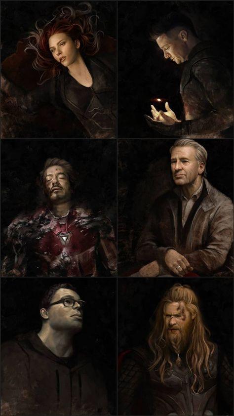 The Original Six Avengers ❤️💞 Endgame lockscreen 💗 - #Avengers #Endgame #lockscreen #original