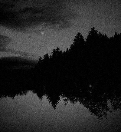 Darkness Falls Dark Landscape Black Aesthetic Wallpaper Black And White Aesthetic