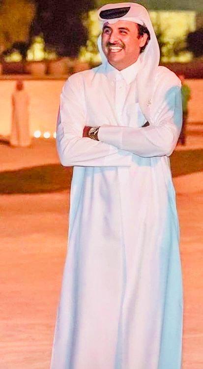 Emir Tamim Of Qatar Doha 2020 الأمير تميم بن حمد الدوحة ٢٠٢٠ In 2020 Fashion Neck Dress High Neck Dress