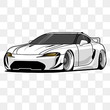 Luxury White Super Sports Car Vector Illustration Car Supercar Luxury Car Png And Vector With Transparent Background For Free Download Sports Car Car Cartoon Car Vector