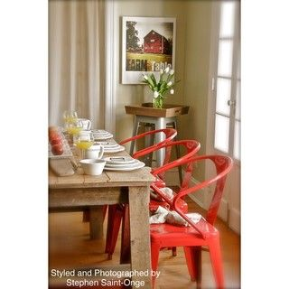 @Overstock - These stacking chairs come in a red color option and have a sturdy steel construction. The polished finish on this set of four chairs is both mar and scratch resistant.http://www.overstock.com/Home-Garden/Red-Tabouret-Stacking-Chairs-Set-of-4/5095637/product.html?CID=214117 $169.99