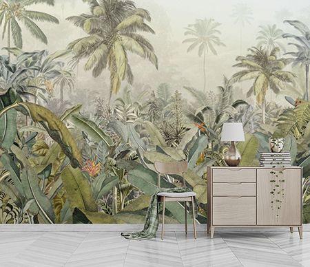 Sticker mural paysage Géant Palmiers