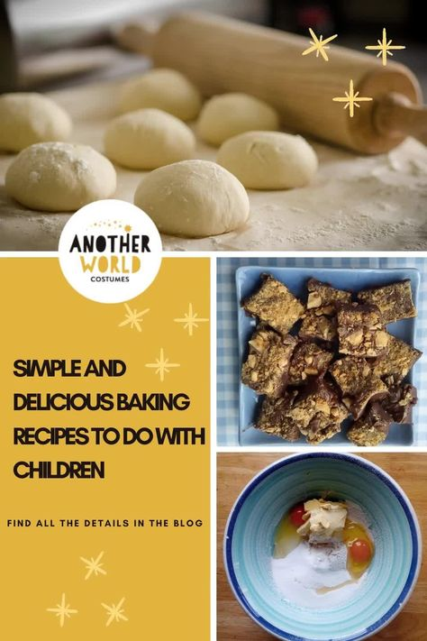 This post has 5 delicious recipes which are easy for children to help make and which all the family will enjoy eating! Happy baking! #bakingisfun #bakingwithkids #bakingforkids #easybaking