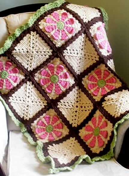 Daisy Flower Crochet Charity Square - Free Pattern: