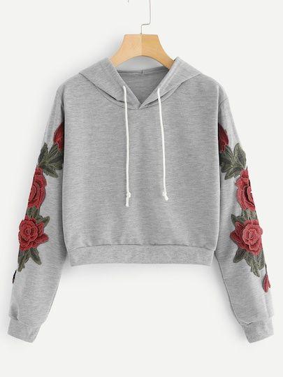 SHEIN Crop Top in 2019   Hoodies, Sweaters, jeans, Cute