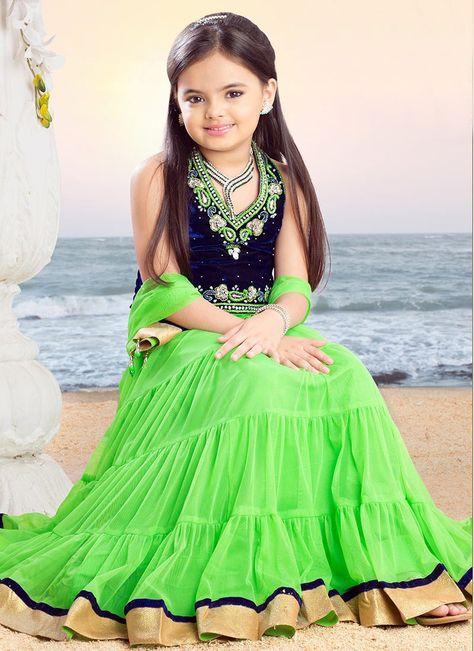 Green Ruhanika Dhawan Kids Lehenga Choli