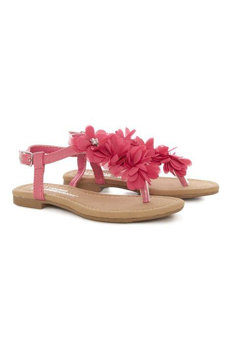 Primark - Roze sandalen met bloemen