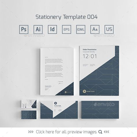 Stationery Corporate Identity Template Psd Vector Eps