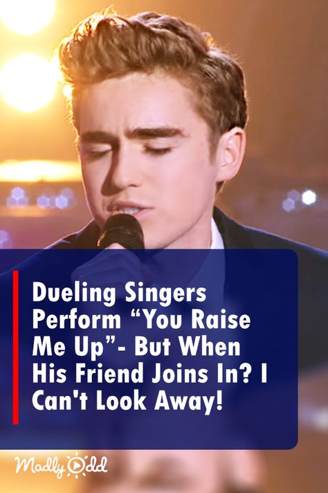 """Dueling Singers Perform """"you Raise Me Up"""" — But When His Friend Joins In? I Can't Look Away!"""