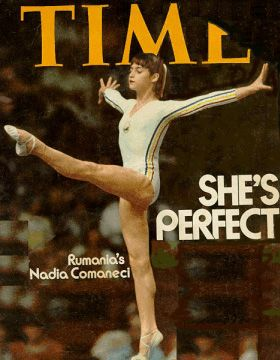 """Nadia Comaneci--This Tiny Romanian Youngster Made History While Making the First """"Perfect 10 Scores"""" In Olympic History...Long Retired, Nadia Will Remain In the Record Books Always!!  What Grit & Grace!!"""