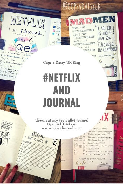 Tracking my TV obscession in my Bullet Journal! #netflix
