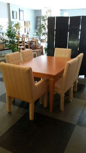Six 6 Parsons Dining Chairs