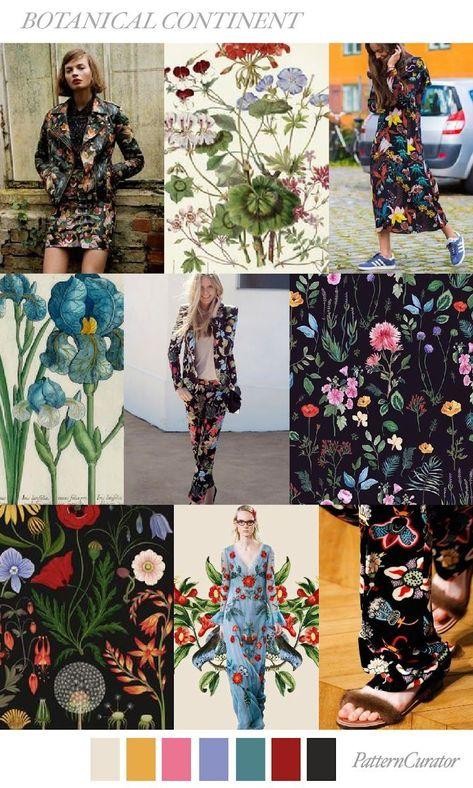 TRENDS // PATTERN CURATOR - BOTANICAL CONTINENT . SS 2018 (FASHION VIGNETTE) - Vivian Rodriguez Fuertes - #botanical #CONTINENT #CURATOR #Fashion #Fuertes #pattern #Rodriguez #SS #Trends #VIGNETTE #Vivian color palet