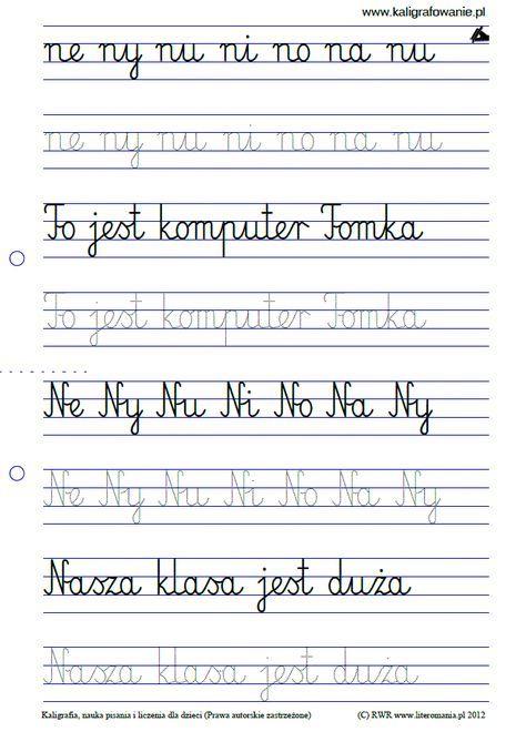 Duzy Podglad Kaligrafia Nauka Pisania Dla Dzieci Szablony Do Nauki Pisania Liter Do Wydruku Szlaczki Sudoku Ryso Math For Kids Education Polish Language