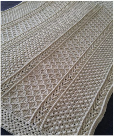 Aran Hearts Crochet Throw with Free Pattern   Pattern Center