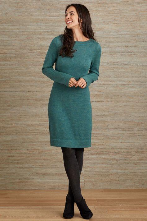 4b86c793998 Fair Indigo Baby Alpaca Fair Trade Sweater Dress