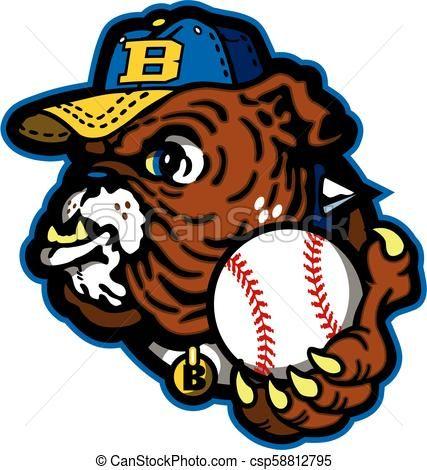 Bulldog Baseball Vector Stock Illustration Royalty Free Illustrations Stock Clip Art Icon Stock Clipart Icons Logo L Baseball Vector Art Icon Vector Art
