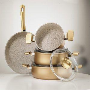 الفرق بين الحلل السيراميك والجرانيت Gold Kitchen Accessories Gold Kitchen Kitchen Accessories