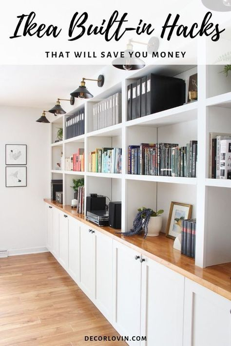 Save money with these IKEA built-in hacks. See how these DIY superstars made over their IKEA furniture into beautiful built-in storage pieces. furniture, DIY IKEA Built-in Hacks Ikea Hacks, Ikea Furniture Hacks, Furniture Makeover, Hacks Diy, Furniture Storage, Furniture Ideas, Barbie Furniture, Garden Furniture, Office Furniture