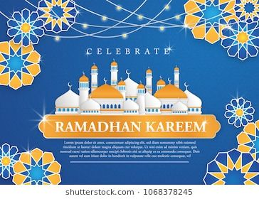 Celebrate Ramadhan Kareem Background With Arabic Ornaments And
