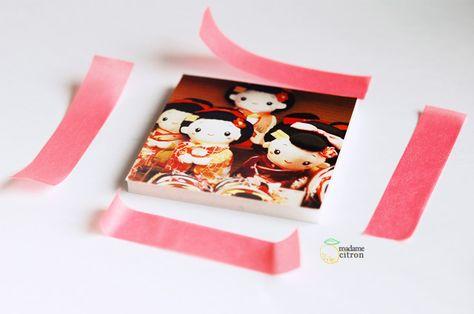 DIY : cadres néons au masking tape   Madame Citron - Création de cake-topper et faire-part de mariage