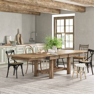Nancy Extendable Dining Table Reviews Birch Lane Solid Wood Dining Table Wood Dining Table Extendable Dining Table