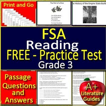 image relating to Printable 3rd Grade Eog Reading Practice Test named Pin upon FSA (Florida Benchmarks Reviews) Supplies