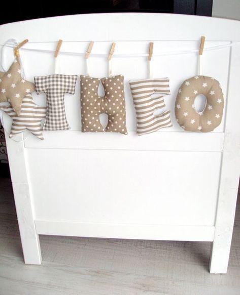 NEU <3 süße Verzierung von Namen von Babypullover-Dekoration auf DaWanda.com: