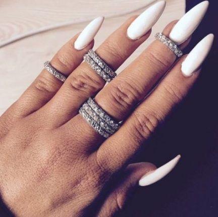 Super Nails Art Stiletto Simple Rings Ideas