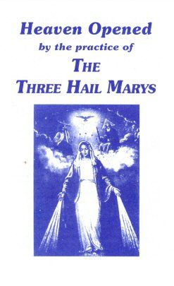 The Three Hail Marys Devotion. Great for avoiding sin and growing in virtue and devotion to the Blessed Mother Catholic Religion, Catholic Quotes, Blessed Mother Mary, Blessed Virgin Mary, Divine Mother, Faith Prayer, My Prayer, Prayer Cards, Prayers To Mary