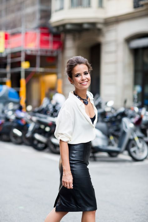 "Outfit Love. Leather skirt ""Work Wonders"" …#shopdailychic"""