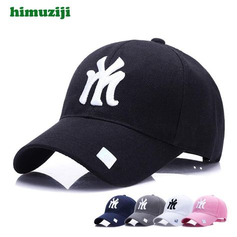 dc991c005c551 Black Adult Unisex Casual Baseball Caps Fashion Snapback Hats For Men Women  Black Sport Gorras Ny My Cap