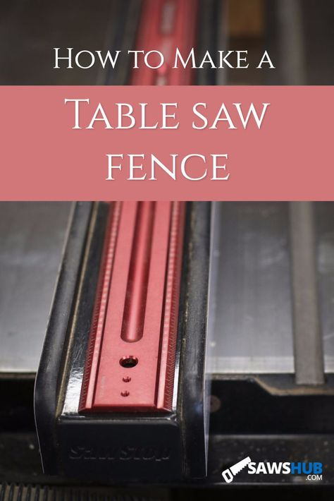 Learn how to make a fence for your table saw to guide wood accurately. #tablesaw #saw #powertool #DIY #woodworking #house #project #wood