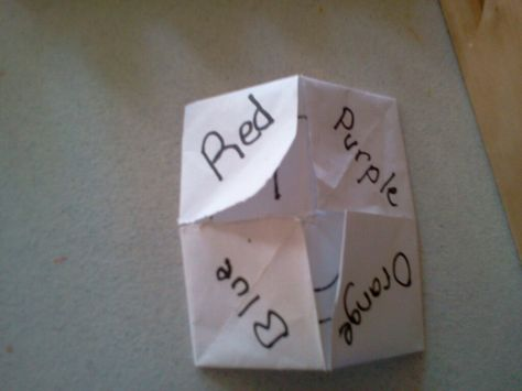 Prek cootie catcher.....R E D, 1-2-3, A is for _______... Opens up to a BIG Smiley Face