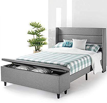 Amazon Com Mellow Modern Upholstered Platform Beds With Headboard