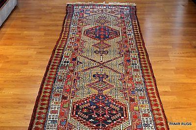 15 Foot Long Antique Persian Runner Southwest Kurdish Bidgar Matches Heriz Rugs Rugs Antiques Persian