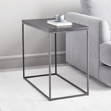 Streamline Side Table Black Sun Valley Table Narrow Side Table Black Side Table