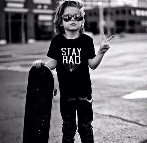 I wanna have a skater boy for a son <3 go ride together <3