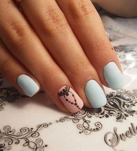 Матовые Ногти Без Рисунка