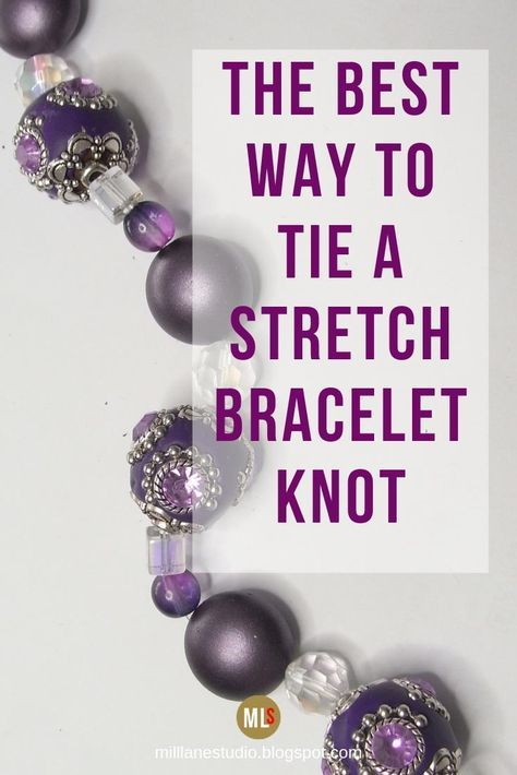 beaded bracelets If youve got a stretch bracelet that broke then this tutorial is what youre looking for to fix it. This is the best, most secure way of tying a knot in stretch beading elastic. This is one technique youll be glad you learned! Bracelets Diy, Bracelet Knots, Stretch Bracelets, Colorful Bracelets, Beaded Bracelets Tutorial, Diy Bracelet, Handmade Beaded Bracelets, Beaded Braclets, Beaded Jewelry Patterns