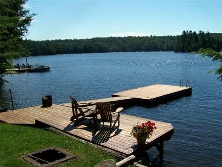 Haliburton 3 br Beach Front Vacation Rental Cottage: Private lakefront  cottage on prestigious Kennisis Lake | Cottage Ideas | Pinterest | Lakes,  ...