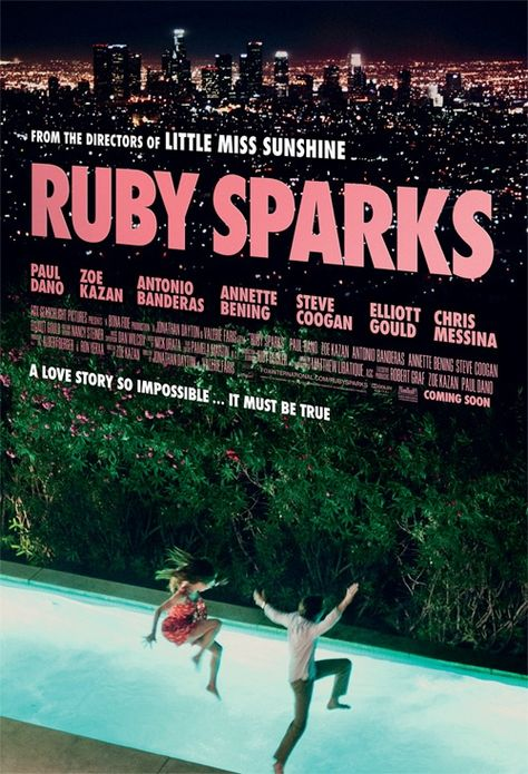 Ruby Sparks. I love love this movie. Zoe Kazan is Amazing. Must watch.