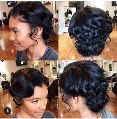 Updo Hairstyles For Black Hair Weddings Google Search Natural Hair Wedding Natural Hair Styles Black Wedding Hairstyles