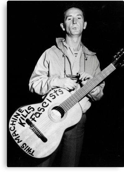 """CHECK OUT MY NEW WOODY SHIRT * / """"Https:  //ih1.redbubble.net/image.659167302.6946/ra,classic_tee,x2100,heather_grey,fron…    Famous guitars, Folk musician, Guthrie"""